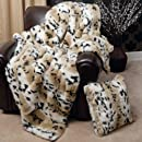 """Faux Fur Throw Blanket 58"""" x 60"""" - Lynx - BT"""