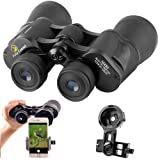 Gosky 10X 50 Porro Binoculars for Adults and Kids -for Bird Watching Travelling Landscape Stargazing Hunting Concert Sports Outdoor Games- BAK-4 Prism -MultiCoated Lens Upgraded