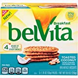 belVita Toasted Coconut Breakfast Biscuits, 5 Count Box, 8.8 Ounce