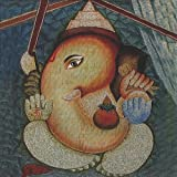 "Dolls Of India ""Lord Ganesha"" Reprint On Card Paper - Unframed (15.88 X 15.88 Centimeters)"