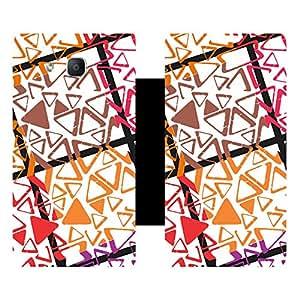 Skintice Designer Flip Cover with Vinyl wrap-around for Samsung Galaxy On5 , Design - damask