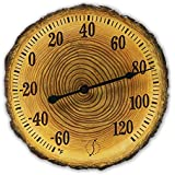 Springfield Polyresin Thermometer (12-Inch, Tree Slice)