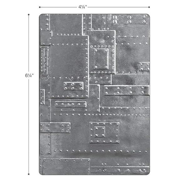 Sizzix (SIZC7) 662717 3-D Texture Fades Embossing Folder, Gray (Color: Gray)