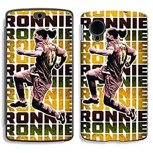 Bluegape LG Naxus 5 D821 Ronaldinho Football Player Phone Skin Cover, Brown