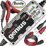 NOCO Genius G7200 12V/24V 7.2A UltraSafe Smart Battery Charger & NOCO Genius GC004 10' Extension Cable (Bundle)