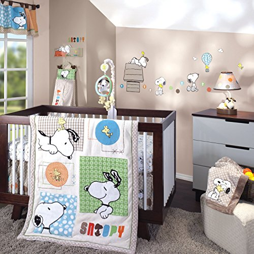 Ideal Lambs Ivy Crib Bedding Set and Bumper BFF Snoopy