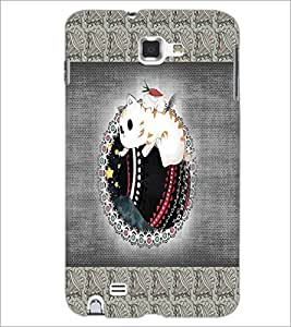 PrintDhaba Cartoon D-4072 Back Case Cover for SAMSUNG GALAXY NOTE 1 (Multi-Coloured)