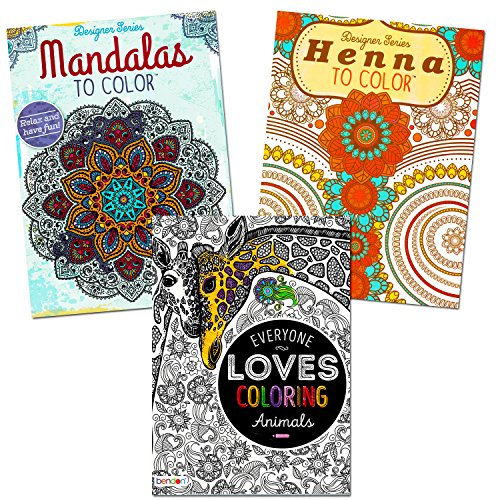 Adult Coloring Books Set 3 Over 140 Stress Relieving Patterns
