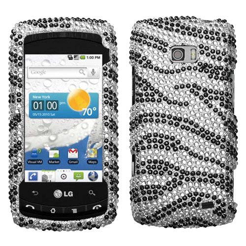 Ally vs740 Accessory   White Black Zebra Bling Case Cover Cell Phones