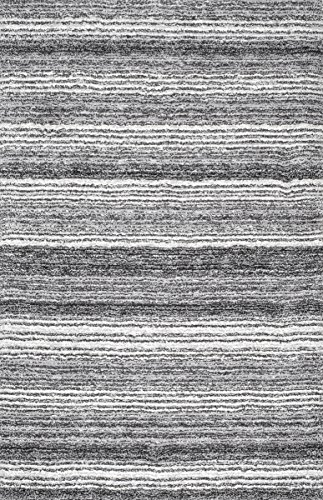 nuLOOM Cine Collection Hand Made Area Rug, 9-Feet by 12-Feet, Grey Multi