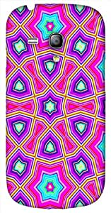 Striking 3D multicolor printed protective REBEL mobile back cover for Samsung Galaxy S3-Mini - D.No-DEZ-2235-s3m