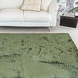 なかね家具 ふわふわ 洗えるシャギー ラグ すべり止め 床暖対応 シャギーラグマット ほっとカーペット対応 楕円形 100×150 グリーン 583rarujyu
