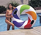 1 Piece Intex 47 Inch Inflatable Whirl Color Floating Tube Raft Pool Swim Tube with Handles