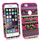 Bessky(TM) New Listing!!2014 Hot Sell iPhone 6 6G 4.7 inch Tribe Combo Hybrid Silicone Hard Case