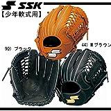 エスエスケイ(SSK) 少年軟式スーパーソフト オールラウンド用L SSJ661F 90 ブラック 右投げ