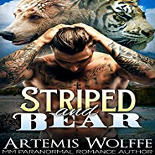 Striped and Bear: M/M Gay Shifter Mpreg Romance: Furbidden Mates, Book 1 (       UNABRIDGED) by Artemis Wolffe, Mercy May Narrated by Gus Klondike