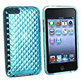 eForCity® TPU Rubber Skin Case Compatible With iPod touch® Gen 2 / 3, Clear Blue Diamond