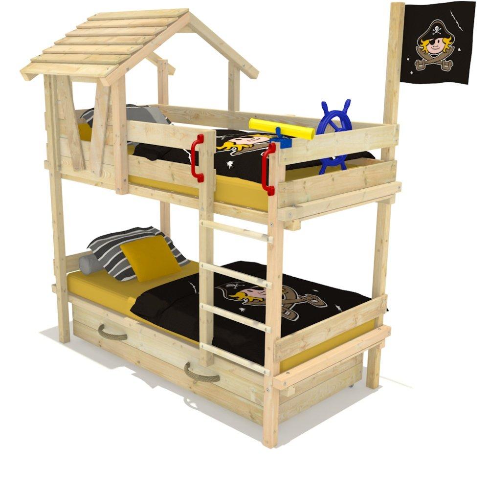 Wickeydream Etagenbett Hochbett Kinderbett Forest Hut Duo 90x200cm Fahne Pirat kaufen