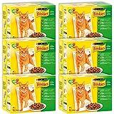 Friskies Chat Repas pour chat adulte Viandes & Légumes en gelée 12 x 100 g - Lot de 6 (72 sachets fraîcheurs)