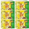 Friskies Chat Repas pour chat adulte Viandes & L�gumes en gel�e 12 x 100 g - Lot de 6 (72 sachets fra�cheurs)