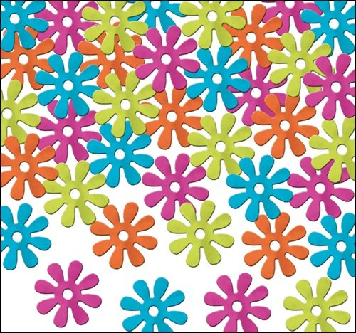 Beistle 57809 Fanci-Fetti Retro Flowers