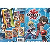 Valentine's Day Cards for Classroom Exchange Bakugan Battle Brawlers