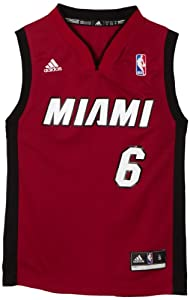 NBA Miami Heat LeBron James Alternate Youth Jersey (Garnet, Medium)