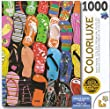 Colorluxe 1000 Piece Puzzle - Colorful Flip Flops