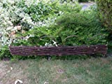 2 LENGTHS WILLOW HOOP HURDLE GARDEN EDGING 4ft X 1ft