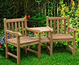Windsor Teak Love Seat - Tete a Tete Companion Bench - Jati Brand, Quality & Value