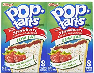 Kellogg's Low-Fat Frosted Strawberry Pop-Tarts, 8 ct, 2 pk