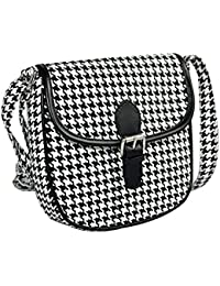 Ayeshu Black White Zing Printed Sling Bag