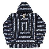 Baja Joe - Premium Woven Baja Hoodie Jerga Mens (Large, Navy)