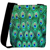 Snoogg Peacock Pattern 2 Womens Carry Around Cross Body Tote Handbag Sling Bags