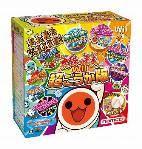(Bundle 'drum and drumstick' drum controller only) Taiko no Tatsujin Wii super deluxe edition
