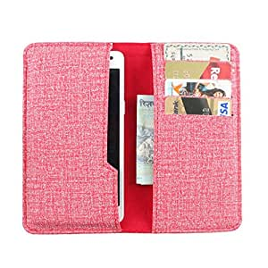 DooDa PU Leather Pouch Case Cover With Card / ID Slots For Lava Pixel V1
