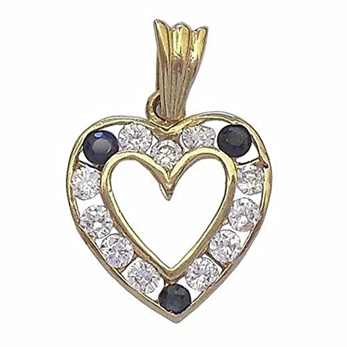 18k gold pendant zircon sapphire [441]