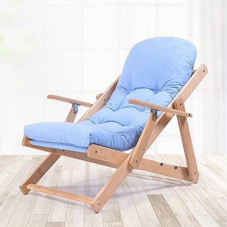 HWF Tumbonas Silla plegable Recliner Nap Silla de sofá ajustable Silla de ocio de madera sólida ( Color : C )