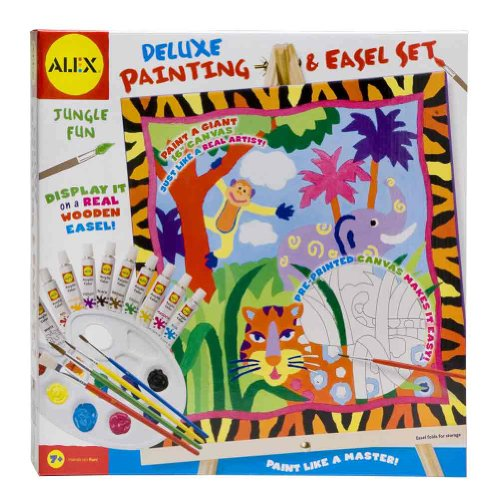 Alex Jungle Deluxe Painting and Wooden Easel Set - 16