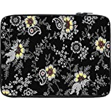 Snoogg Black Yellow Pattern 2480 12 To 12.6 Inch Laptop Netbook Notebook Slipcase Sleeve