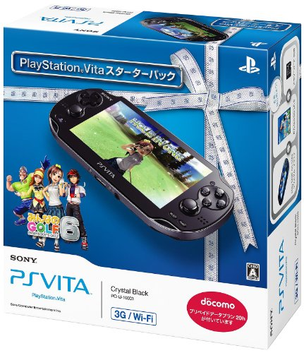 Playstation Vita 3g/wi-fi model Crystal Black Starter Pack (Pchj-10003)