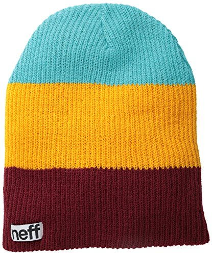 Neff, Berretto Uomo Trio, Multicolore (Maroon/Orange/Teal), Taglia unica