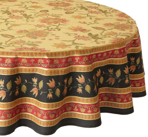 Wonderful ++Mahogany Bahar Printed 70 Inch Round Cotton Tablecloth 61PgZcoro8L