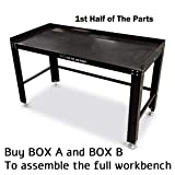 Eastwood Shop Work Bench Heavy Duty Steel 61x30in Work Space Box A (Color: Box a - 1st Half of the Parts, Tamaño: Parts)