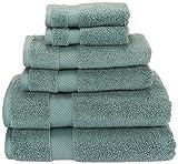 Superior Collection 6-Piece Zero Twist Cotton Super Soft and Absorbent Towel Set, Jade