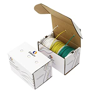 CBAZYTM Hook up Wire (Stranded Wire) 18 Gauge Flexible Silicone Wire 18AWG 15M (49 Feet) Electrical Wire Green+Yellow+White (Color: B-(green+yellow+white ), Tamaño: 18AWG)