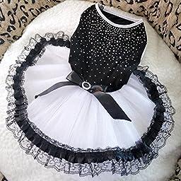 Saver Summer Lace Bubble Pet Dog Dress Skirt Lace Princess Skirt