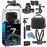GoPro Hero7 Hero 7 Waterproof Digital Action Camera Advanced Bundle (Black) (Color: Black, Tamaño: Advanced)