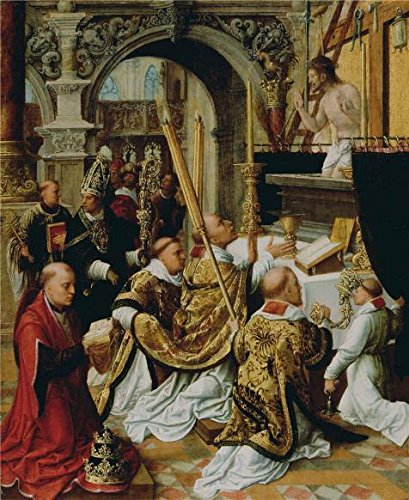[The High Quality Polyster Canvas Of Oil Painting 'The Mass Of Saint Gregory The Great,first Half Of 16th Century By Adriaen Isenbrandt' ,size: 20x24 Inch / 51x62 Cm ,this High Resolution Art Decorative Prints On Canvas Is Fit For Home Theater Decoration And Home Decor And] (C Viper Costumes)