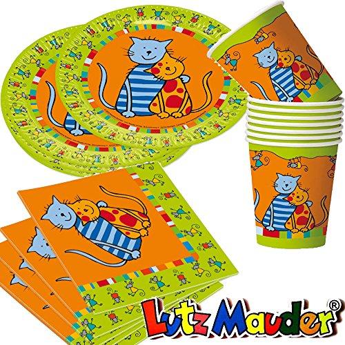 36 tlg party set katzen mit pappteller servietten for Kindergeburtstag pappteller